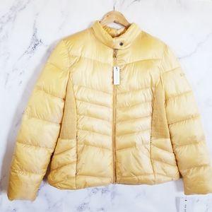 VIA SPIGA Puffer Light Golden Iridescent Jacket